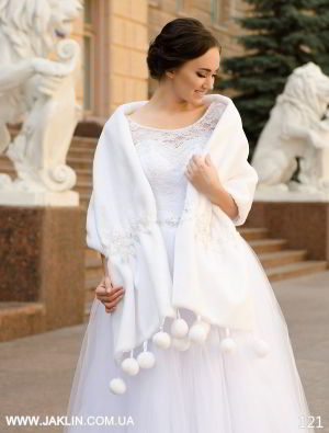 Свадебная шубка модель 121