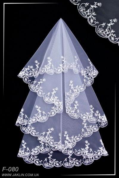 Свадебная фата модель F-080